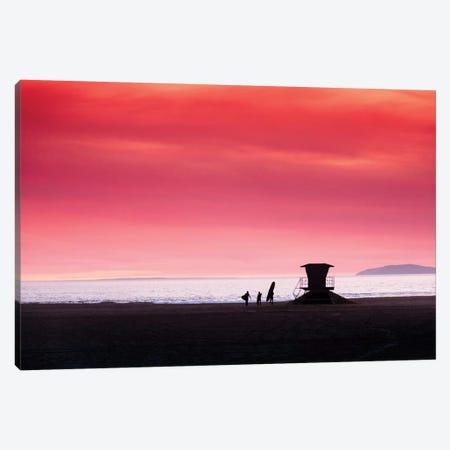 Huntington Beach 3-Piece Canvas #SDV124} by Sean Davey Art Print