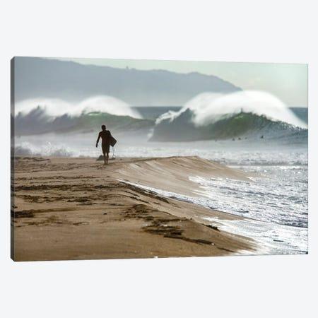 Beach Barrels Canvas Print #SDV12} by Sean Davey Canvas Art Print