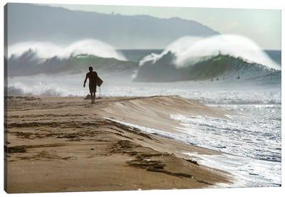 Beach Barrels Canvas Art Print