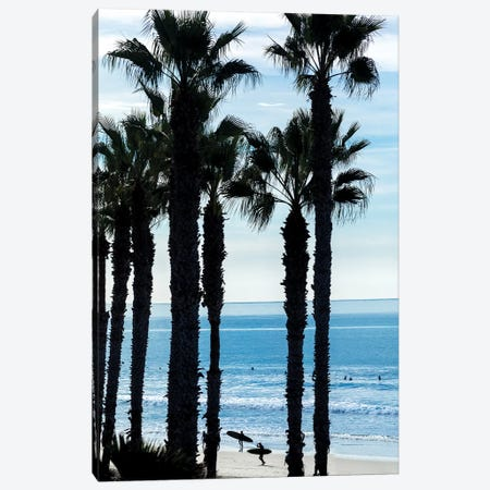 Oceanside Silhouettes Canvas Print #SDV152} by Sean Davey Canvas Art Print