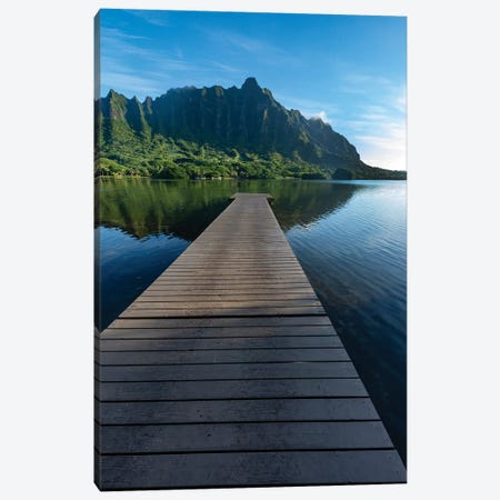 Paradise Island Dock Canvas Print #SDV158} by Sean Davey Canvas Art Print