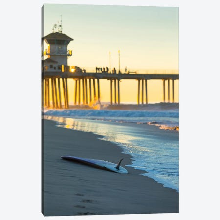 Single Fin Pier Vert Canvas Print #SDV213} by Sean Davey Canvas Artwork