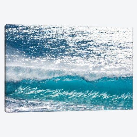 Turquoise Shimmer Canvas Print #SDV244} by Sean Davey Canvas Art