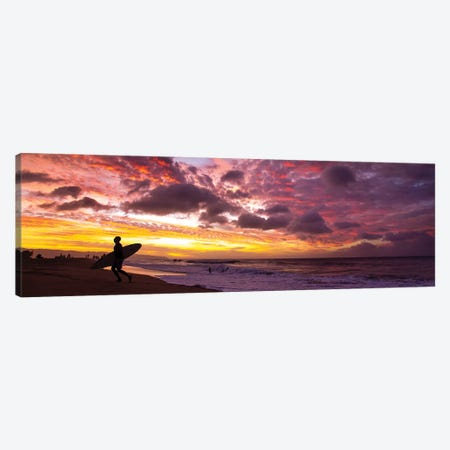Vog Sunset Canvas Print #SDV250} by Sean Davey Canvas Art