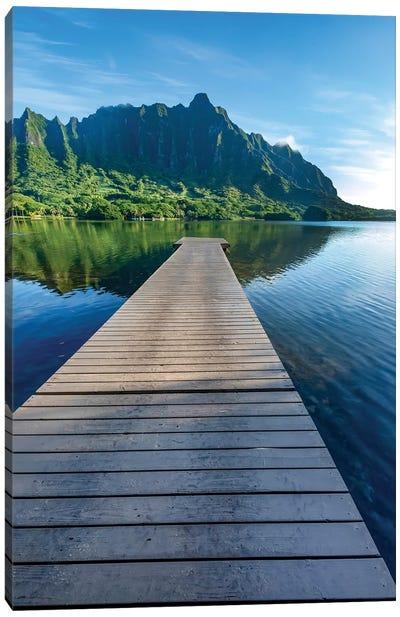 Dock To Paradise Canvas Art Print