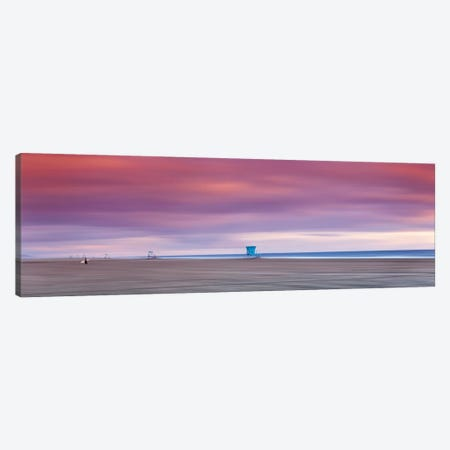 Empty Lifeguard Stands Canvas Print #SDV286} by Sean Davey Canvas Wall Art