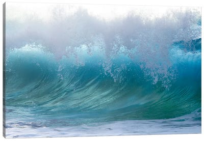 Blue Rumble Canvas Art Print