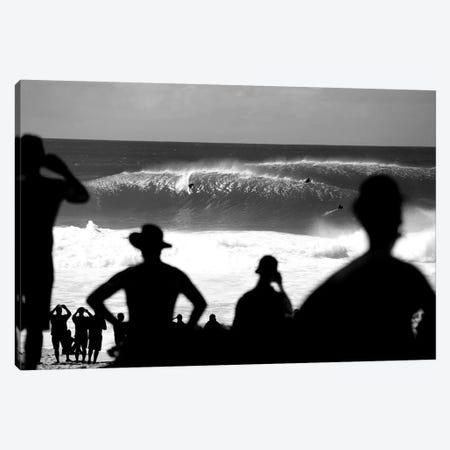 Pipe Silhouettes Black And White Canvas Print #SDV309} by Sean Davey Canvas Artwork