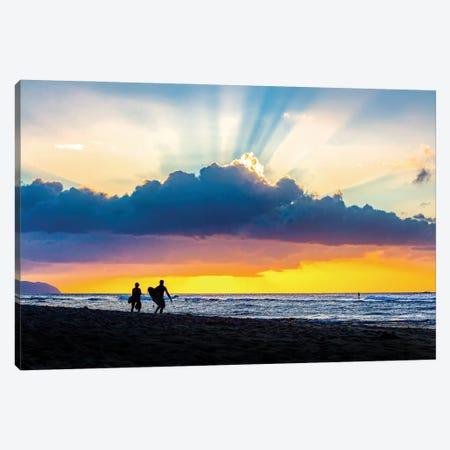 Surf Rays Canvas Print #SDV319} by Sean Davey Art Print