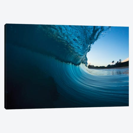 Curved Water Canvas Print #SDV54} by Sean Davey Canvas Wall Art