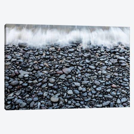 Foam Rush Pebbles Canvas Print #SDV85} by Sean Davey Canvas Art Print
