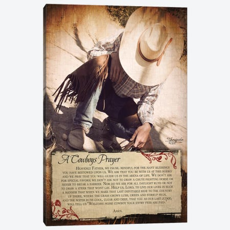 A Cowboy's Prayer Canvas Print #SEA1} by Anne Seay Canvas Artwork