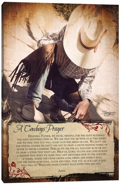 A Cowboy's Prayer Canvas Art Print