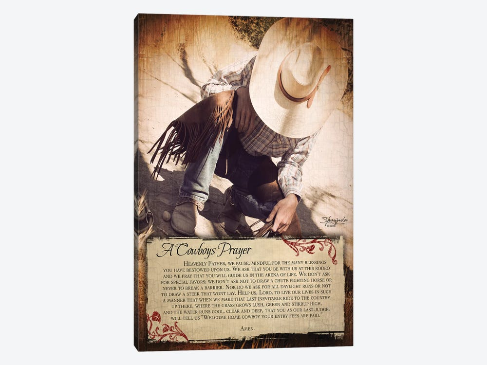 A Cowboy's Prayer 1-piece Art Print