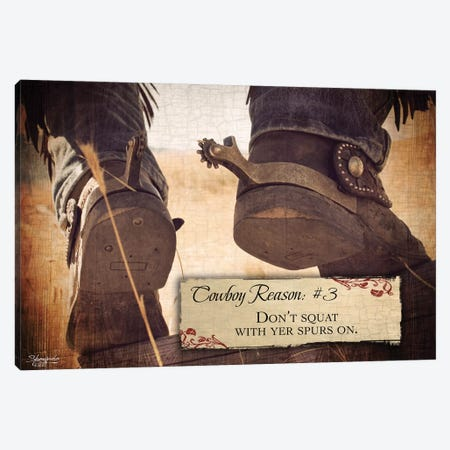Cowboy Reason #3: Spurs Canvas Print #SEA2} by Anne Seay Canvas Artwork
