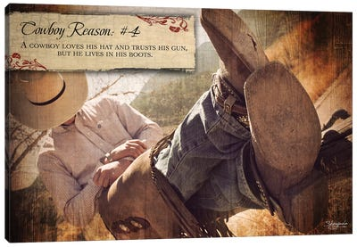 Cowboy Reason #4: Boots Canvas Art Print