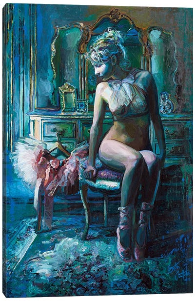Juliette, The Ballerina Canvas Art Print