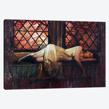 Nothing Is Forgotten Under The Red Maple Canvas Print #SEC16} by Seth Couture Canvas Wall Art