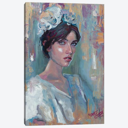 Portrait Of Adela Canvas Print #SEC20} by Seth Couture Canvas Artwork