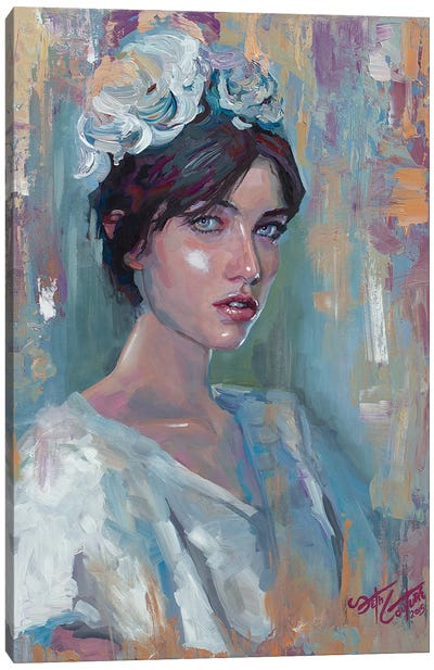 Portrait Of Adela Canvas Art Print