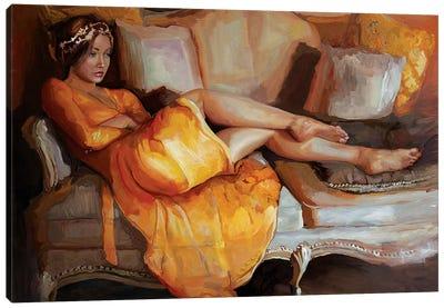 Portrait Of Camellia Canvas Art Print