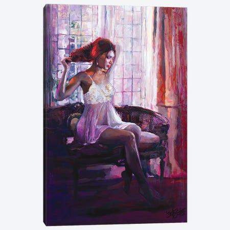 Portrait Of Dahlia Canvas Print #SEC22} by Seth Couture Canvas Artwork