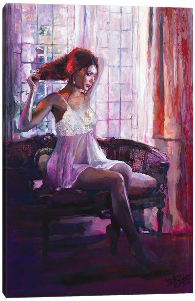 Portrait Of Dahlia Canvas Art Print