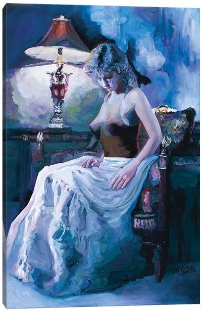 Captured By Lamplight Canvas Art Print