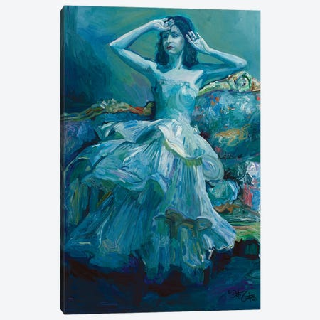 The Blue Brightness Canvas Print #SEC34} by Seth Couture Canvas Art