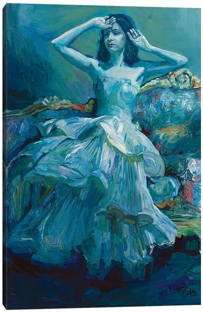 The Blue Brightness Canvas Art Print