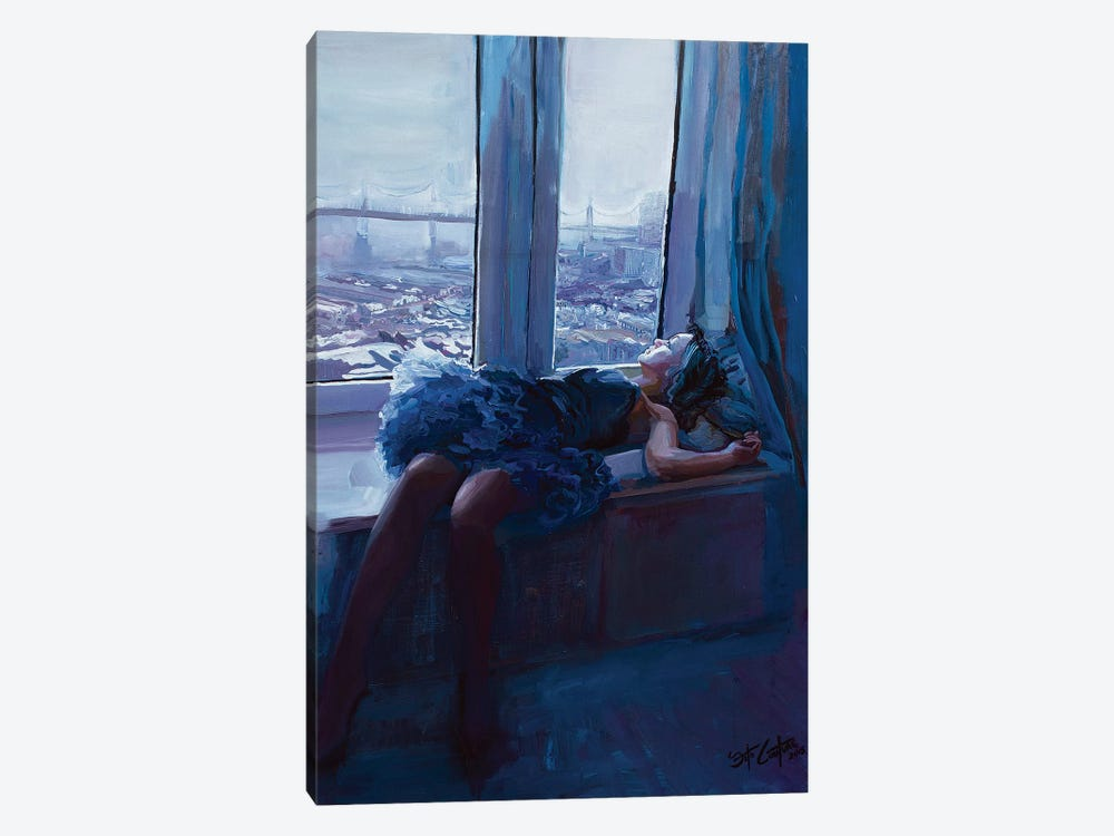Eliana By The Bay by Seth Couture 1-piece Canvas Wall Art