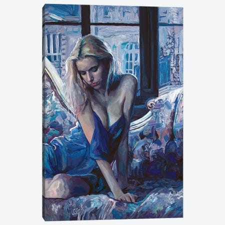 Heart Of Forgotten Blue Canvas Print #SEC8} by Seth Couture Canvas Artwork