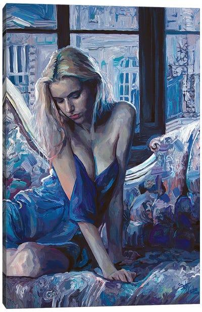 Heart Of Forgotten Blue Canvas Art Print