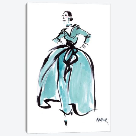 L'Heure Bleue Canvas Print #SED2} by Mona Shafer-Edwards Canvas Art Print