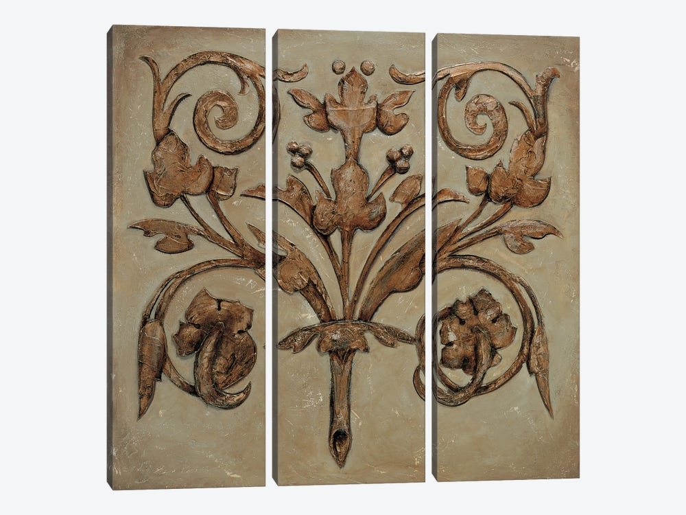 Decorative Scroll II by Pablo Segovia 3-piece Canvas Wall Art