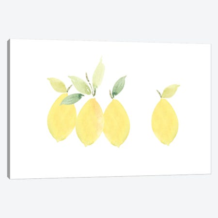 Lemons Canvas Print #SEL14} by Melissa Selmin Canvas Print