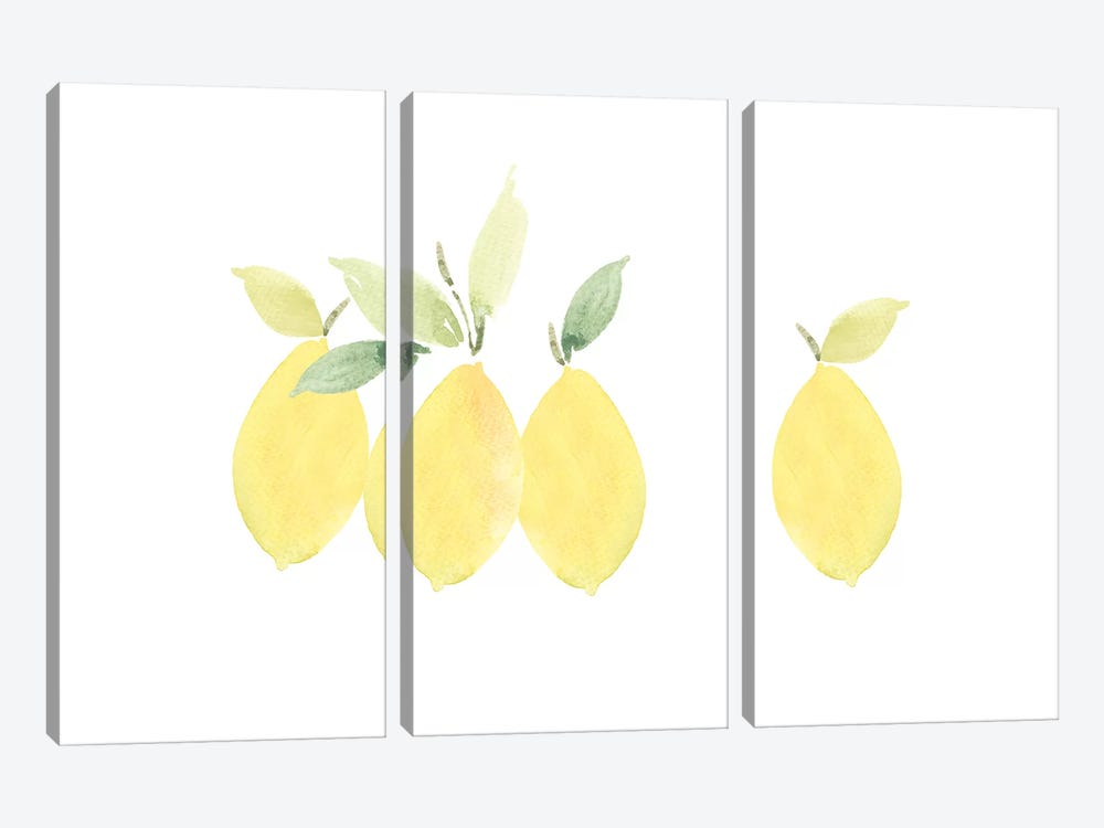 Lemons by Melissa Selmin 3-piece Art Print