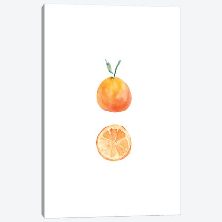 Orange Slice Canvas Print #SEL27} by Melissa Selmin Canvas Art