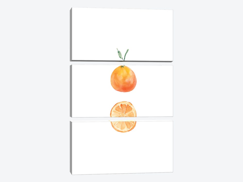 Orange Slice by Melissa Selmin 3-piece Canvas Art Print