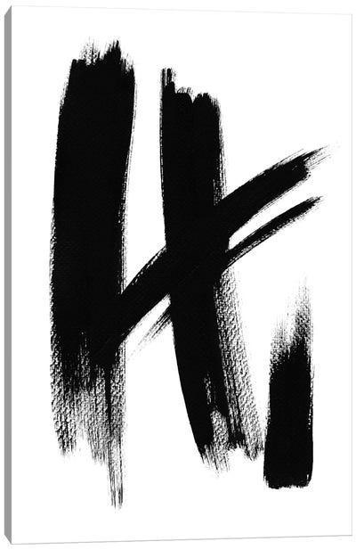 Brush Absract No. 1 Canvas Art Print