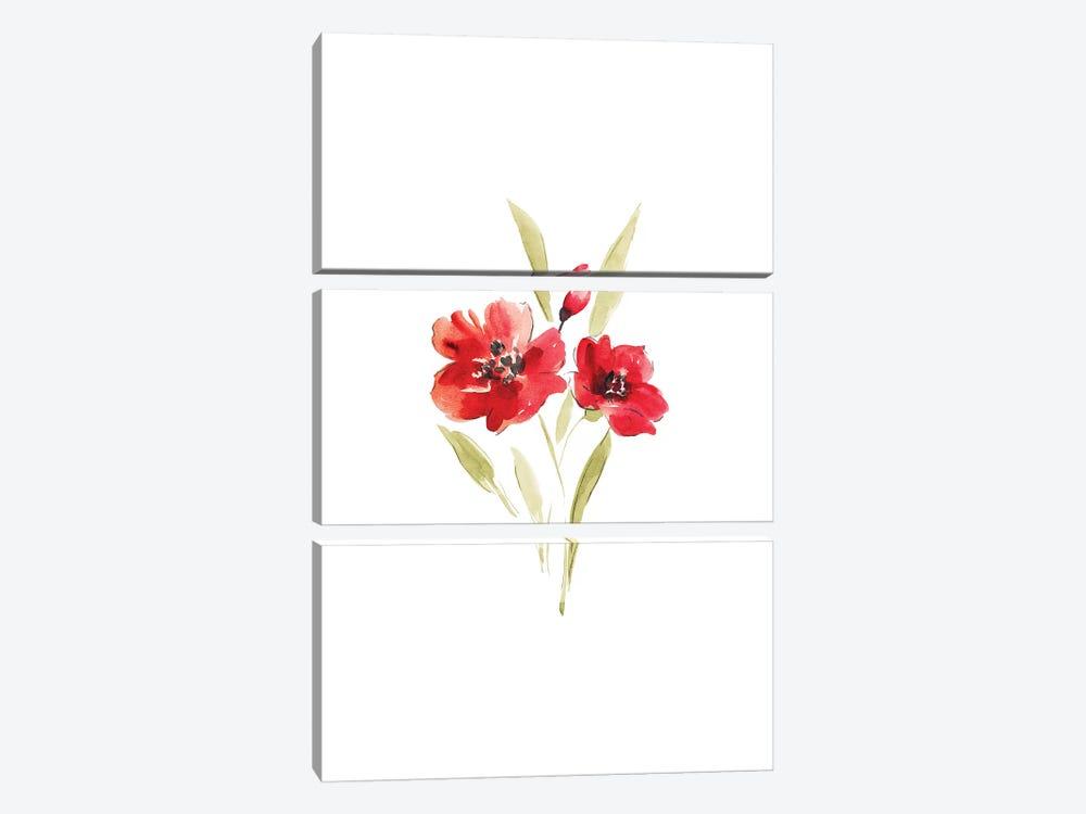 Poppies by Melissa Selmin 3-piece Canvas Art