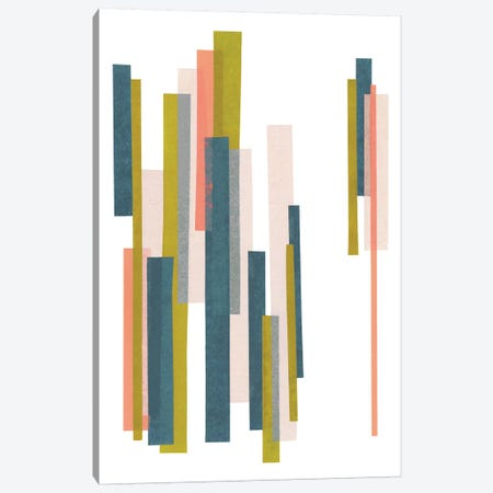 Retro Stripes No. 1 Canvas Print #SEL42} by Melissa Selmin Canvas Art Print