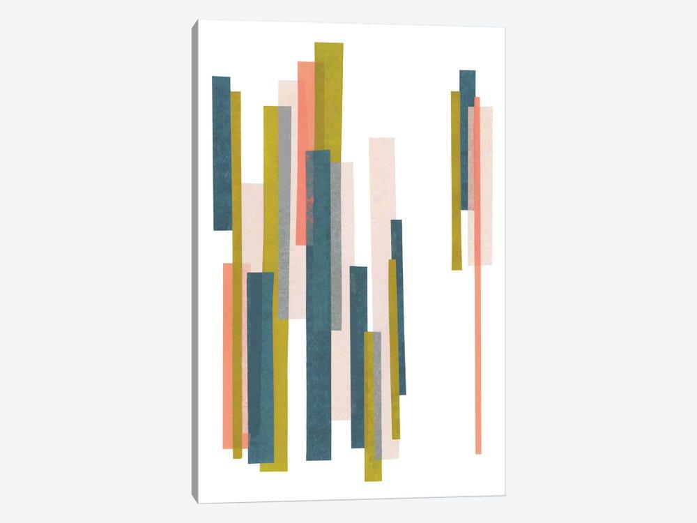 Retro Stripes No. 1 by Melissa Selmin 1-piece Canvas Artwork