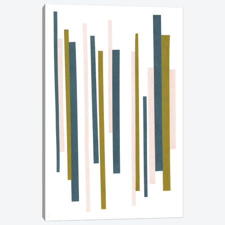 Retro Stripes No. 2 Canvas Print #SEL43} by Melissa Selmin Canvas Print