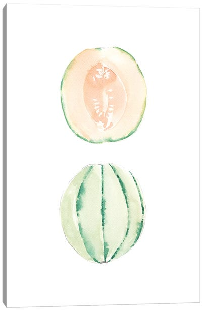 Cantaloupe Slice Canvas Art Print