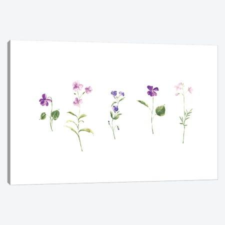Wildflowers 3-Piece Canvas #SEL51} by Melissa Selmin Canvas Wall Art
