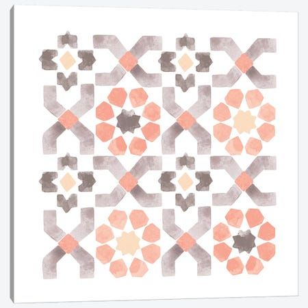 Moroccan Tile Canvas Print #SEL65} by Melissa Selmin Canvas Art