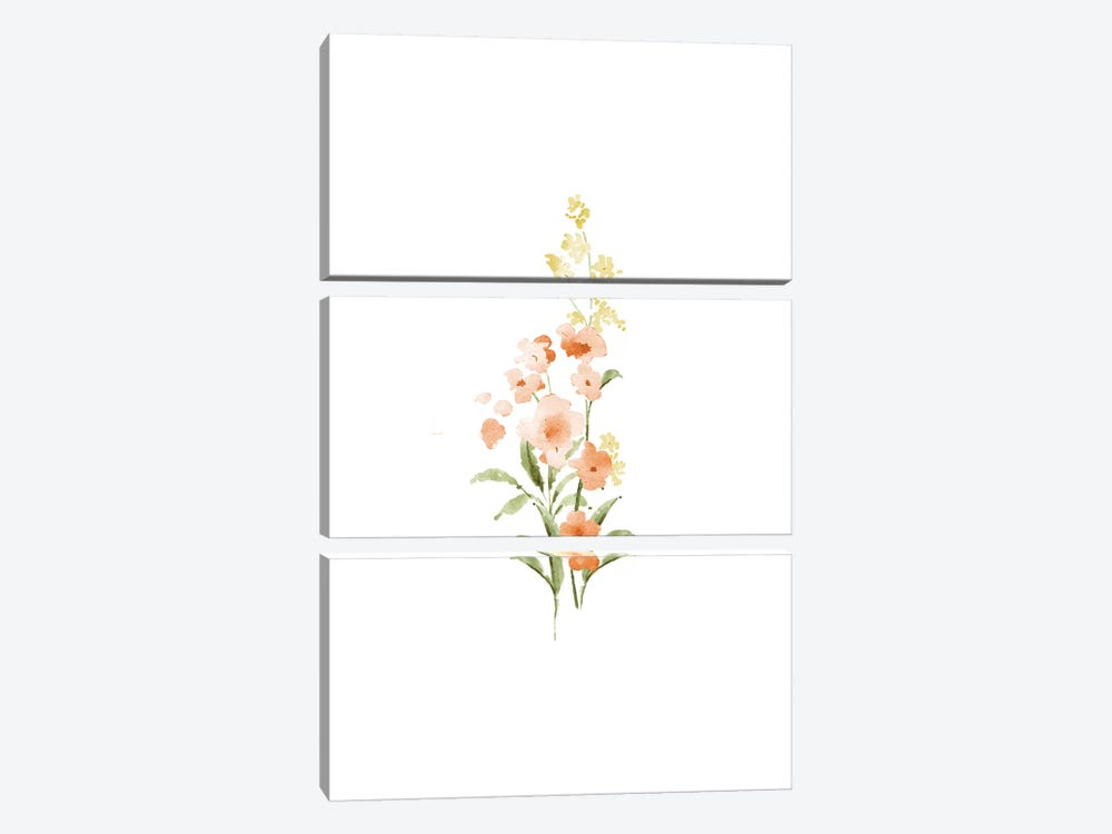Spring Blooms No. 3 by Melissa Selmin 3-piece Canvas Wall Art