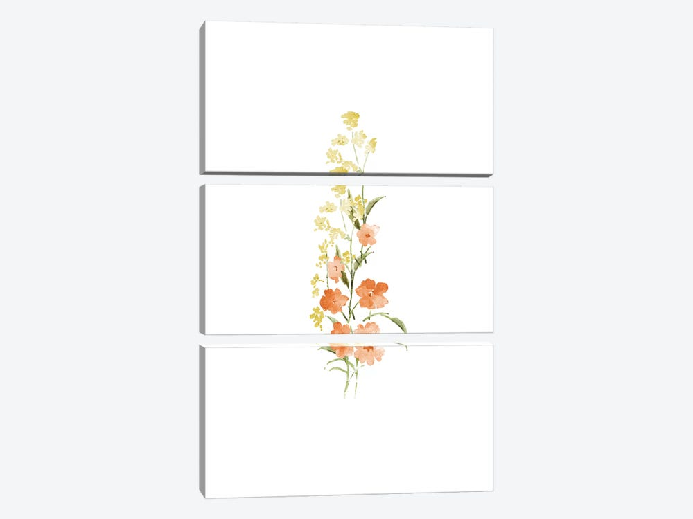 Spring Blooms No. 4 by Melissa Selmin 3-piece Canvas Art Print