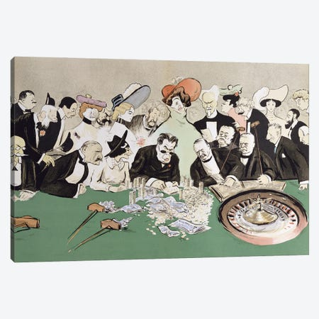Gamblers In The Casino At Monte-Carlo, c.1910 Canvas Print #SEM3} by Sem Canvas Art